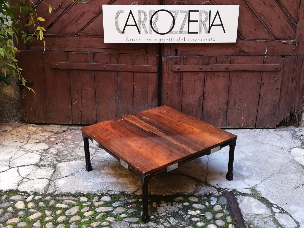 Coffe table basso in radica di noce - Carrozzeria900 Carrozzeria900